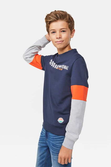 "Jungen-Sweatshirt ""National Crew"" Marineblau"