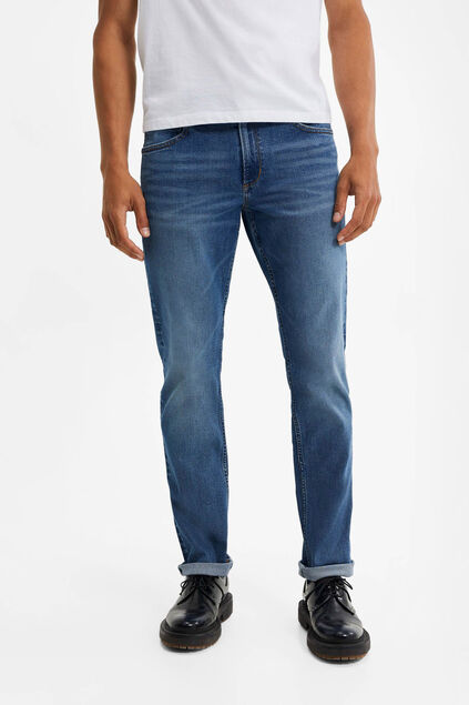 Herren-Relaxed-Fit-Jeans mit Super-Stretch Blau