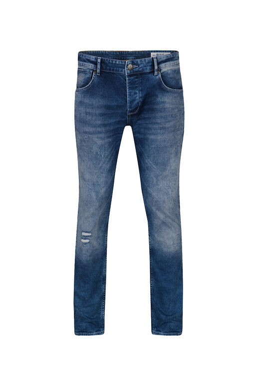 Herren-Slim-Fit-Jeans aus Comfort-Stretch Blau