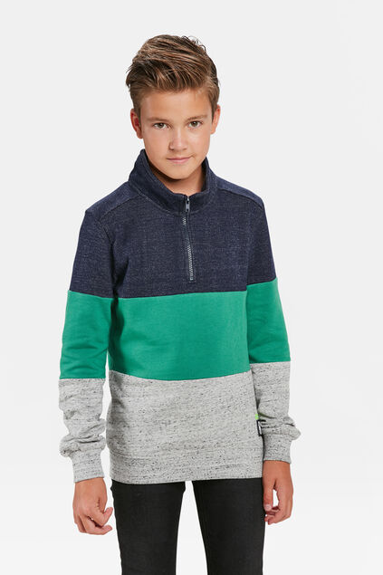 JUNGEN-SWEATSHIRT IN COLOURBLOCK-OPTIK Giftgrün