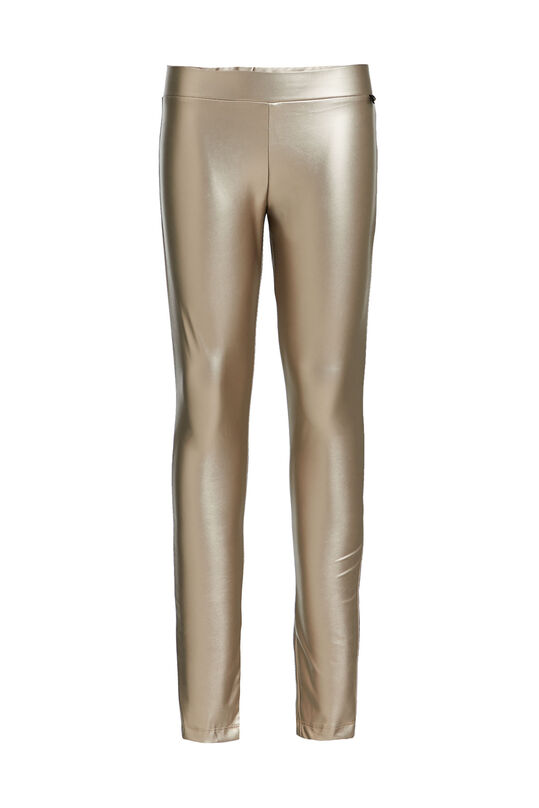 Mädchen-Leggings in Metallic-Optik Gold