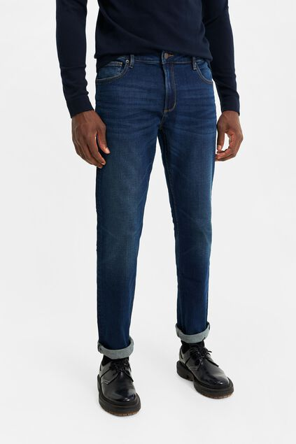 Herren-regular-fit-jeans aus Jog-Denim Dunkelblau