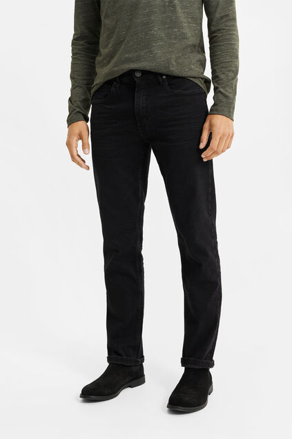 Herren-Relaxed-Fit-Jeans mit Super-Stretch Schwarz