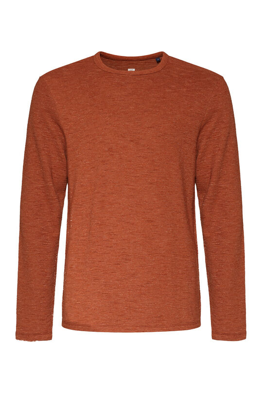 Herrenshirt in Ripp-Optik Orange