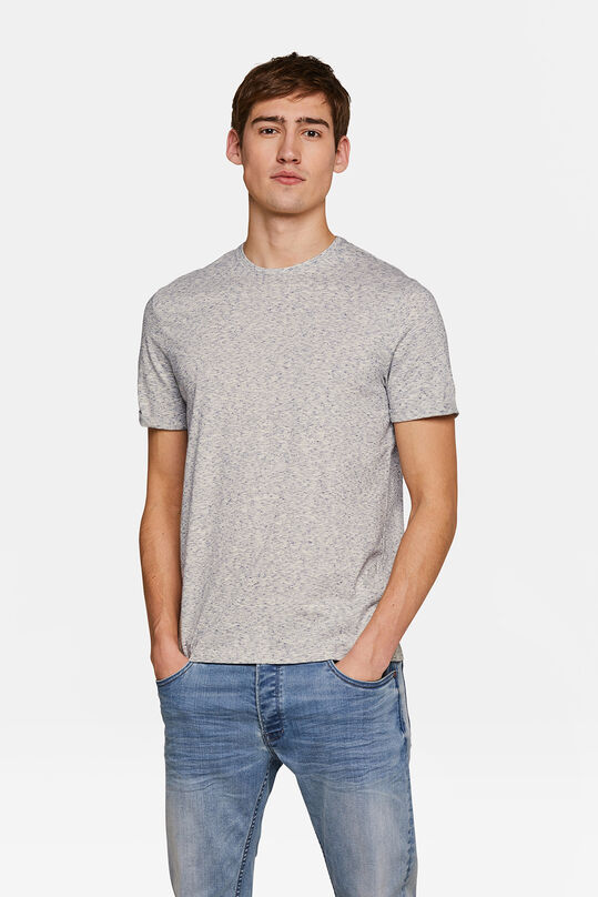 Herren-T-Shirt in melierter Optik Hellgrau