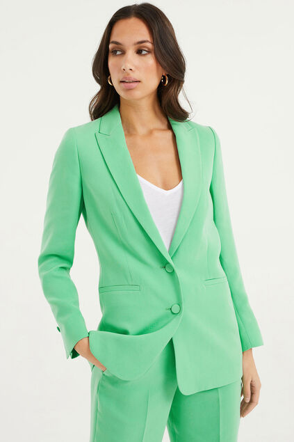 Damen-Regular-Fit-Blazer Giftgrün