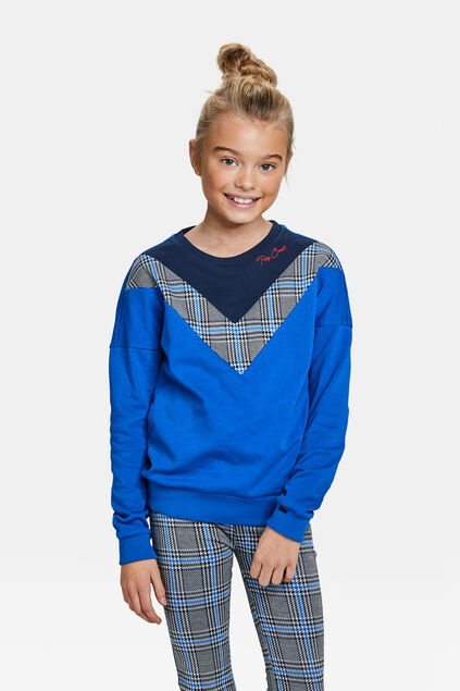 MÄDCHEN-SWEATSHIRT IN COLOURBLOCK-OPTIK Blau