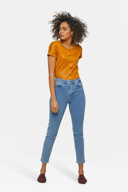 Damen-Slim-Fit-Jeans Hellblau