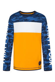 Jungenshirt in Colourblock-Optik_Jungenshirt in Colourblock-Optik, Blau