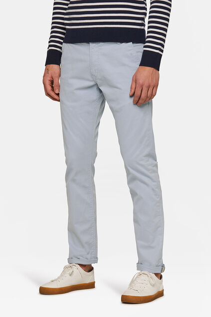 Herren-Slim-Fit-Chinos mit Tapered Leg Hellblau