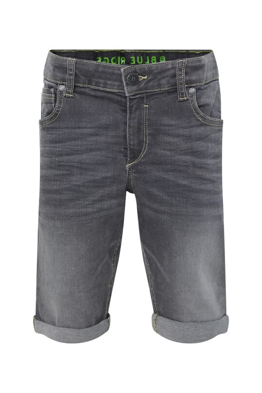 Jungen-Regular-Fit-Jeansshorts Hellgrau