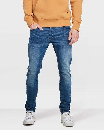 HERREN-SKINNY-TAPERED-SUPER-STRETCH-JEANS Dunkelblau