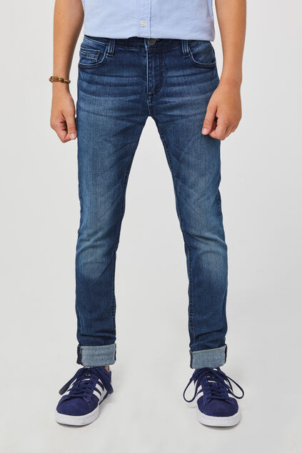 JUNGEN-SUPERSKINNY-JEANS AUS SUPERSTRETCH Blau