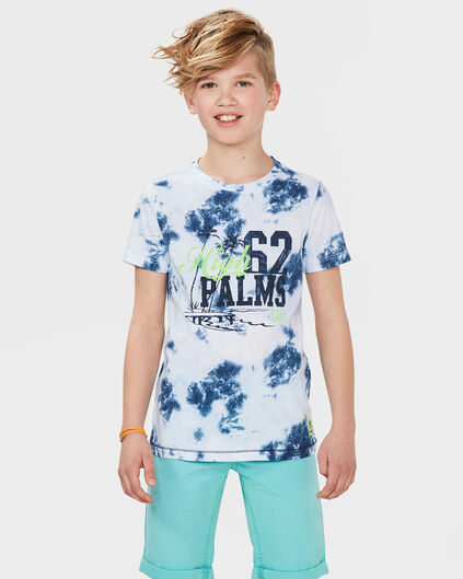 JUNGEN-T-SHIRT IN BATIK-OPTIK Dunkelblau