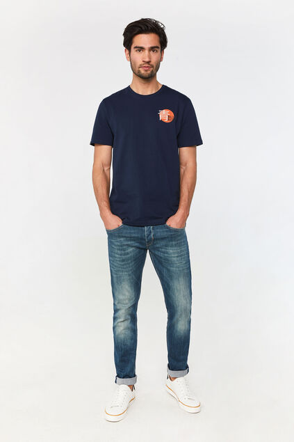 Herren-Tapered -Fit-Jeans mit Jog Denim Blau