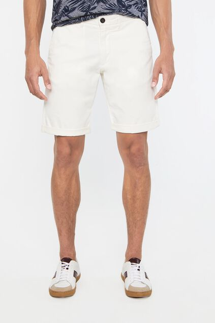 Herren-Slim-Fit-Chinoshorts Naturfarben