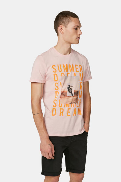 "Herren-T-Shirt ""Summer Dream"" Hellrosa"
