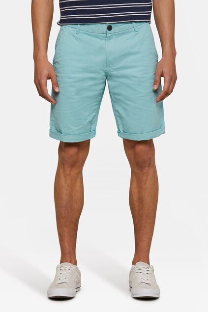 Herren-Regular-Fit-Chinoshorts Eisblau