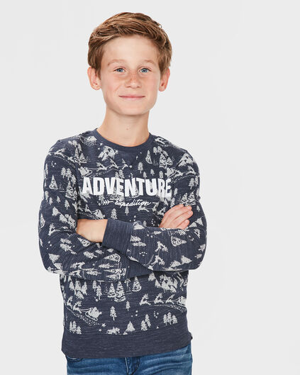 "JUNGEN-SWEATSHIRT ""ADVENTURE"" Blau"