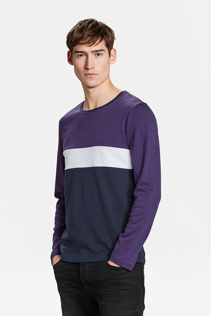 HERRENSHIRT IN COLOURBLOCK-OPTIK Lila