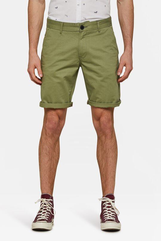 Herren-Regular-Fit-Chinoshorts Olivgrün