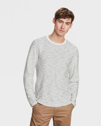 HERREN-SWEATSHIRT IN RIPP-OPTIK Elfenbein