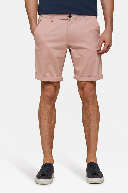 Herren-Regular-Fit-Chinoshorts Hellrosa
