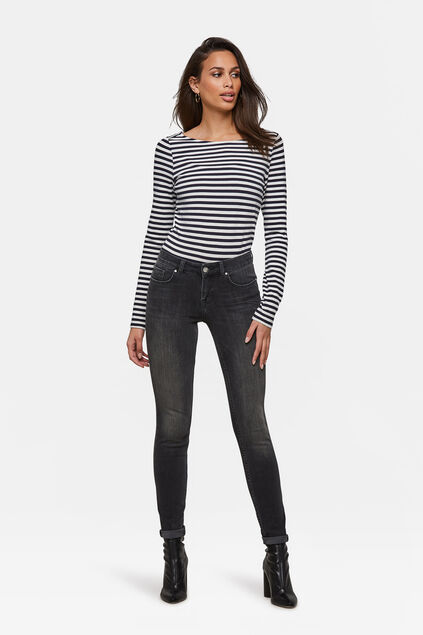 Damen-Superskinny-Shaping-Jeans Schwarz