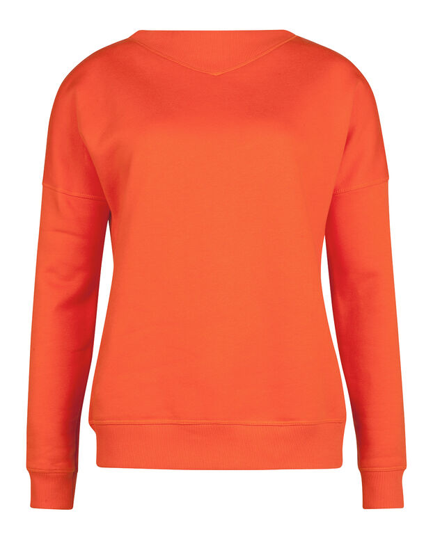 DAMEN-SWEATSHIRT MIT V-DETAIL Orange