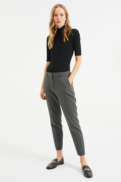 Damen-Slim-Fit-Hose Graugrün