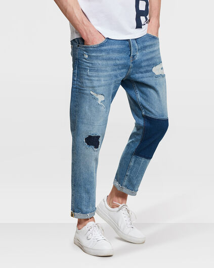 HERREN-LOOSE-FIT-JEANS AUS COMFORT-STRETCH Blau