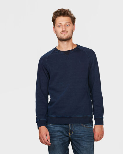 HERREN-SWEATSHIRT IN INDIGO-DYE-OPTIK Blau