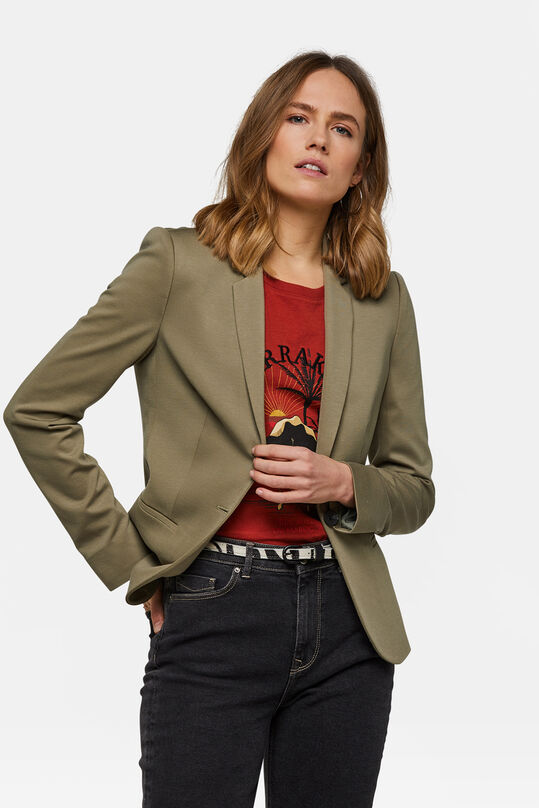 Damen-Regular -Fit-Blazer Hellgrün