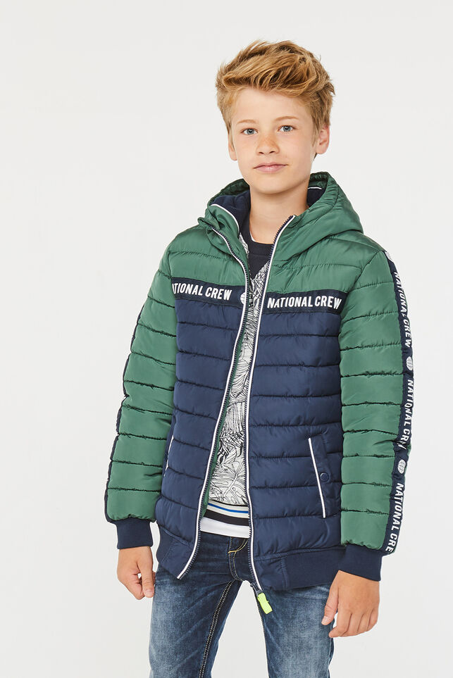 Jungenjacke in Colourblock-Optik Armeegrün