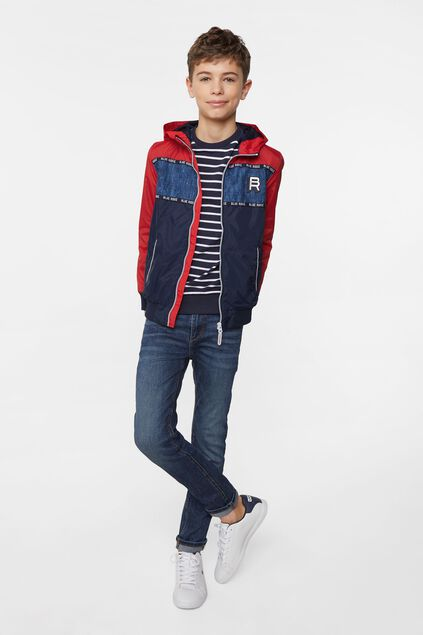Jungen-Windjacke in Colourblock-Optik Mehrfarbig