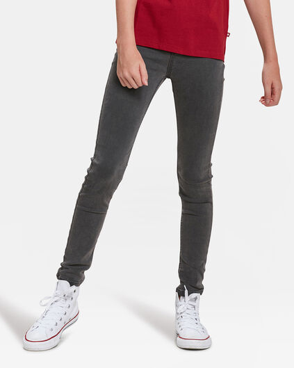MÄDCHEN-SUPERSKINNY-JEGGINGS AUS SUPERSTRETCH Dunkelgrau