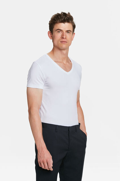 Herren invisible T-shirt, 2er-pack Weiß