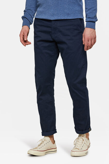 HERREN-REGULAR-FIT CHINO MIT TAPERED LEG Marineblau