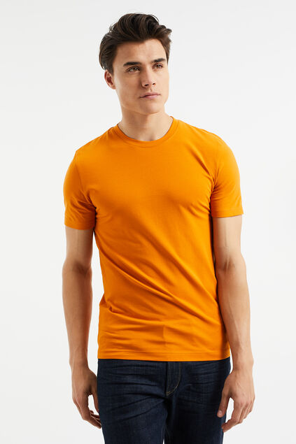 Herren-T-Shirt aus Bio-Baumwolle, Slim-Fit Orange
