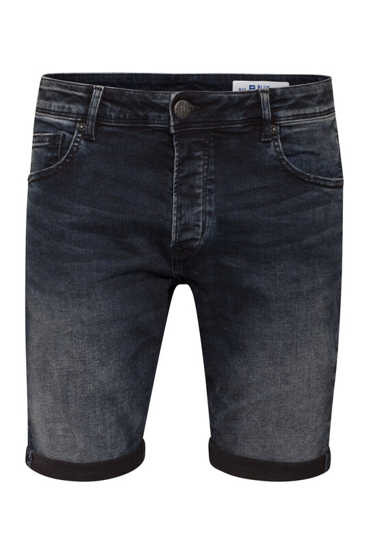 Herren-Regular-Fit-Shorts aus Superstretch-Denim Dunkelblau
