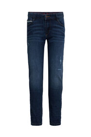 Jungen-Slim-Fit-Jeans mit Destroyed-Details_Jungen-Slim-Fit-Jeans mit Destroyed-Details, Dunkelblau