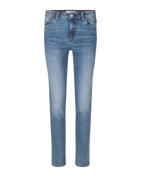 Damen-Slim-Fit-Jeans aus Highstretch-Denim Graublau