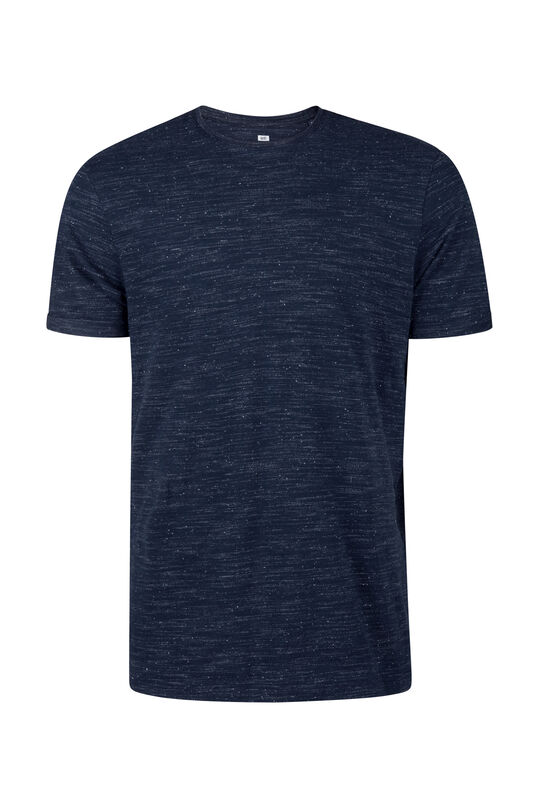 Herren-T-Shirt in melierter Optik Dunkelblau