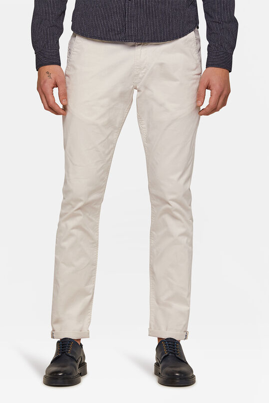 HERREN-SLIM-FIT-CHINO MIT TAPERED LEG Elfenbein