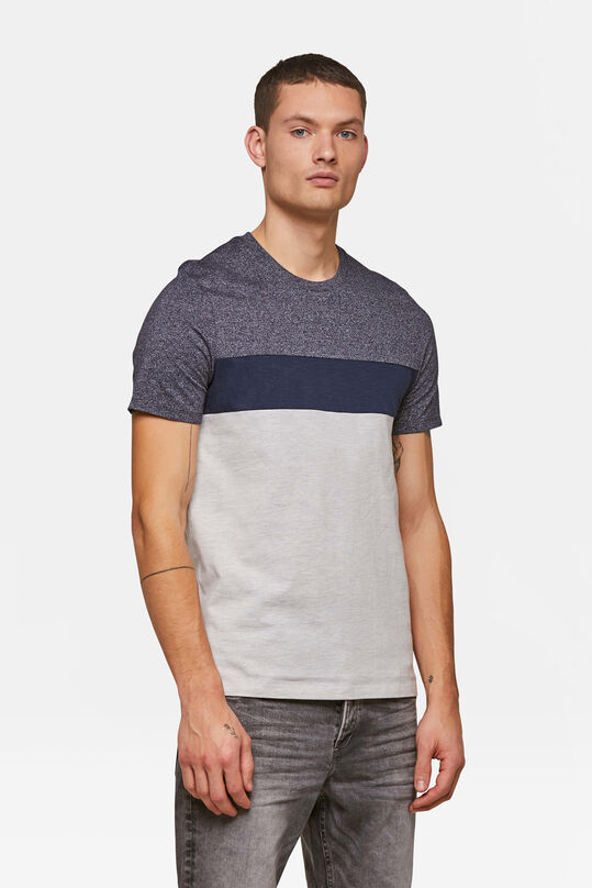 Herren-T-Shirt in colourblock-optik Blau