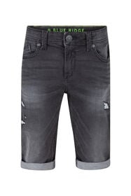 Jungen-Jog-Denim-Shorts mit Slim-Fit-Passform_Jungen-Jog-Denim-Shorts mit Slim-Fit-Passform, Schwarz