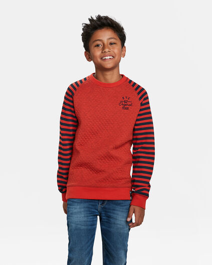 JUNGEN-SWEATSHIRT MIT STEPPMUSTER Orange
