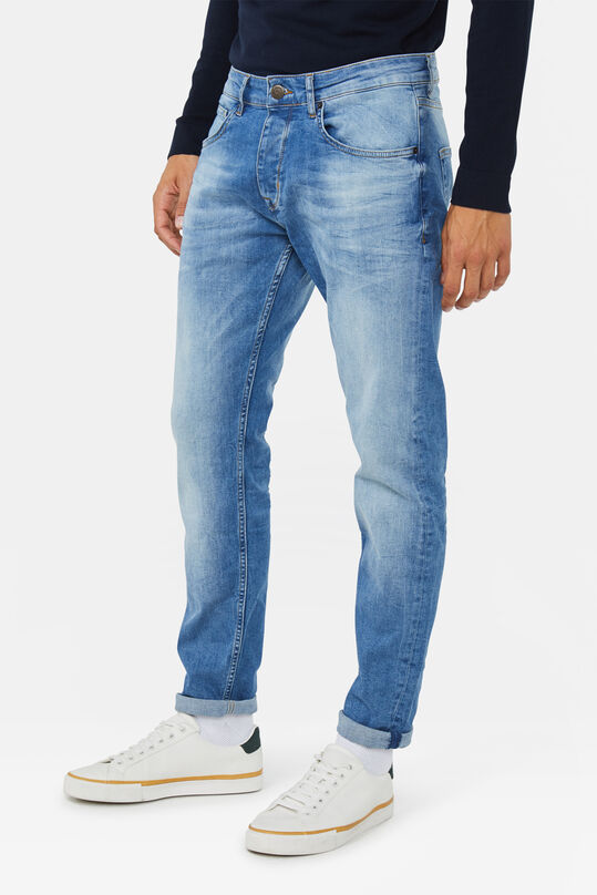 Herren-Slim-Fit-Jeans mit Tapered Leg Hellblau
