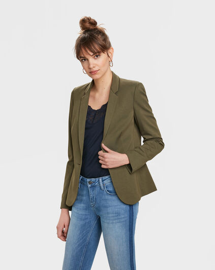 DAMEN-SLIM-FIT-BLAZER Olivgrün
