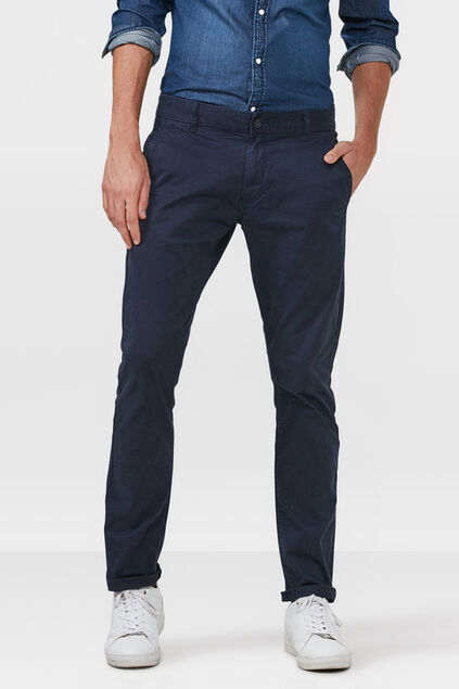 HERREN-CHINO-FIT-HOSE Marineblau